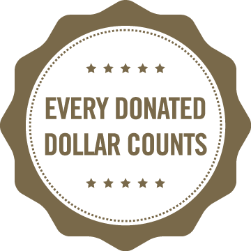 Every donated dollar counts